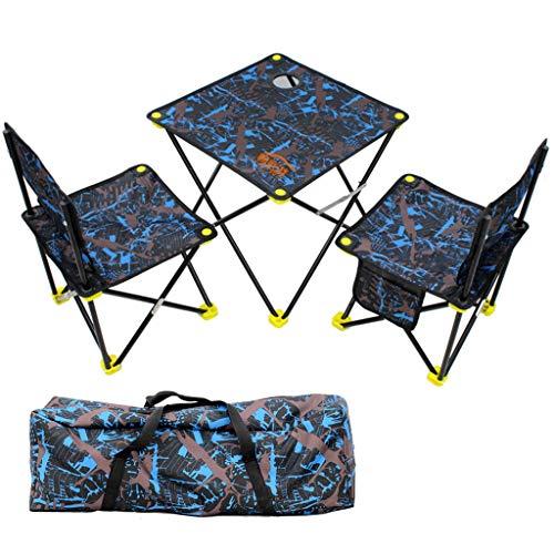 JINGQI Oxford slitstark utomhus bärbar hopfällbar bord och stol uppsättning picknick fritid grillbord kamouflage set bord och stol