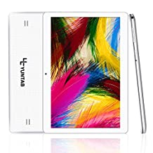 Yuntab 10.1 inch Android 5.1 Tablet Dual SIM Card Cell phone Tablet PC 2G/ 3G/ Wifi 1GB+16GB MTK 6580 Quad-Core IPS 800*1280 Touch Screen With Bluetooth 4.0 (white)