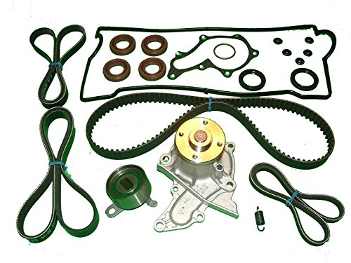 (Timing Belt Kit Toyota Corolla 1993 to 1997 1.8L 7AFE Water Pump Seals Drive Belts tensioner spring and Valve cover set)