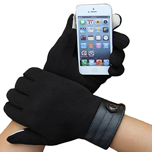 Maonet ❤️ 2018 Fashion Winter Warm Gloves Touch Screen Gloves Driving Cotton Gloves Cycling Gloves for Men Women (Black)