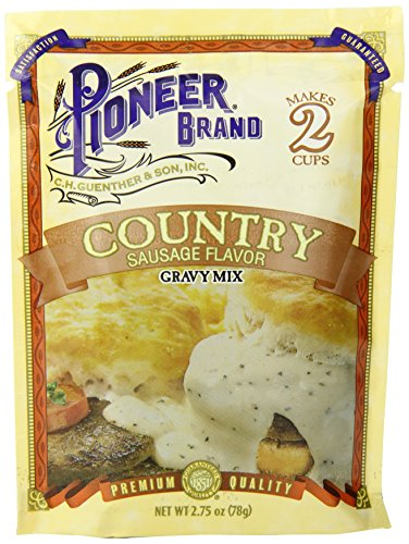 Pioneer Country Sausage Gravy Mix, 2.75 Ounce (Pack of (Country Meat Sausage)