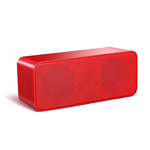Wireless Speakers,ACLUXS Magicbox Ultra-Portable Bluetooth Speakers for iPhone, iPad Mini, iPad 4/3/2, iTouch, Nexus, Samsung and other Smart Phones and Mp3 Players,Red