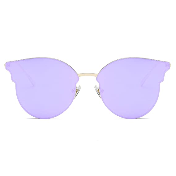ba73bc3c48 SOJOS Cateye Women s Metal Sunglass with Golden Frame and Mirrored Lens  (SJ1055SC9