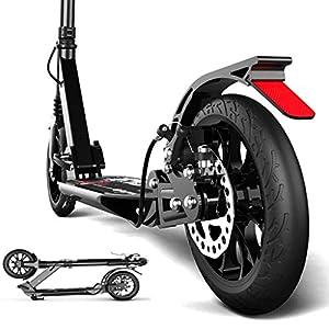 51EfBzDWk7L. SS300 Strollers DD Monopattino - Scooter A Pedali Pieghevoli Adulti, 2 Ruote da 190 Mm PU Grandi Ruote for Bambini, Altezza…