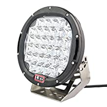 1Pc Round 9inch 96W 7040LM CREE LED Driving Spot work Light 4WD Offroad HID for Jeep SUV Truck Tractor (96W, Black)