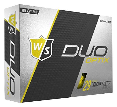 Wilson Staff Duo Soft Optix Golf Balls, Yellow