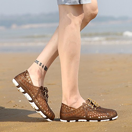 Sommer Hole Schuhe Männer Flip Flop Trend Breathable Sandalen Große Sandalen Strand Schuh Männer Gezeiten Schuhe, braun, UK = 8, EU = 42
