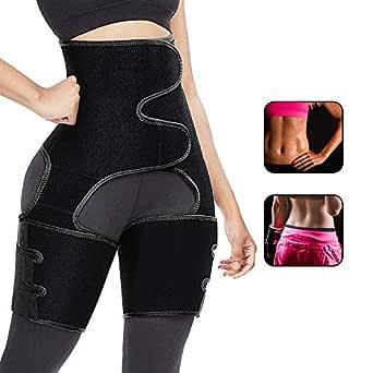 Aiooy Midjetränare, midja lår trimmer, waist trainer bälte, justerbar 3-i-1 kvinnor träningsbälte för midjestöd sport, kroppsformare viktminskning träning fitness
