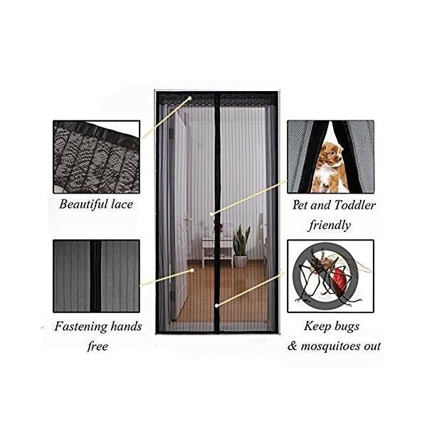 Zanzariera Magnetica Per Porte,Schermo Magnetico Porta Zanzara Estiva,Anti-Zanzara Estate Ventilazione Con Gancio e… 3 spesavip