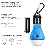 Econious Camping Light, 2 Pack Portable LED Tent Lantern for Backpacking Camping Hiking Fishing Emergency Light, Battery Powered Camping Lamp with 6 AAA Batteries