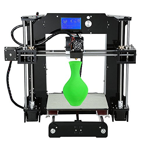 ALUNAR 3D Printer DIY Prusa I3 Kit Mini Self-assembly Desktop FDM 3D Printing Machine with Heated Bed Build Plate SD Card 1 Roll 1.75mm PLA 3D Filament A6