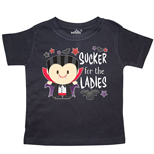 inktastic - Sucker for The Ladies- Cute Vampire Toddler T-Shirt 4T Black 3163f ()