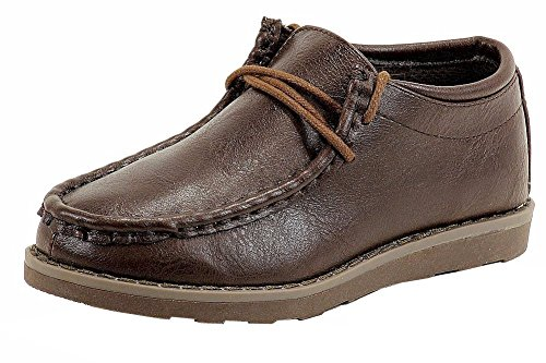 Easy Strider Boys The Fly Fashion Ankle Boot School Uniform Shoes Brown