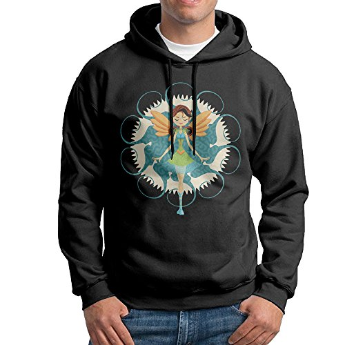 ROTATEL Mens Fairy Doll Classic Hoodie Hooded Sweatshirt Size L ()