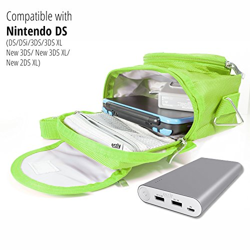 orzly travel bag for nintendo ds consoles new 2ds xl 3ds 3ds xl new 3ds new 3ds xl. Black Bedroom Furniture Sets. Home Design Ideas