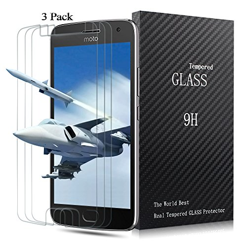 Moto G5 Plus Screen Protector,Airsspu Tempered Glass 3D Touch Compatible,9H Hardness,Bubble Free (3Pack)