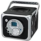 Jensen CD555 Black Limited Edtion Portable Bluetooth Music System with CD Player & FM Radio with Aux-in & Headphone Jack Line