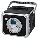 Jensen CD555 Black Limited Edtion Portable Bluetooth Music System with CD Player & FM Radio with Aux-in & Headphone Jack Line-in