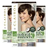 Clairol Natural Instincts Semi-Permanent, 5A Medium Cool Brown, Clove, Pack of 3