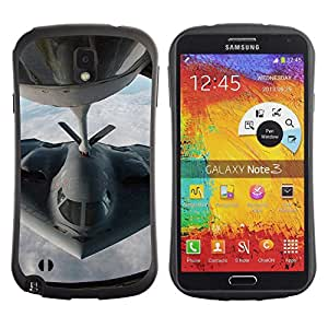 Hybrid Anti-Shock Bumper Case for Samsung Galaxy Note 3 / Stealth Figther Plane