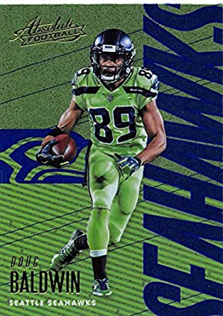 2018 Absolute Football Spectrum Blue  90 Doug Baldwin Seattle Seahawks  Official NFL Trading Card made f522c8e42
