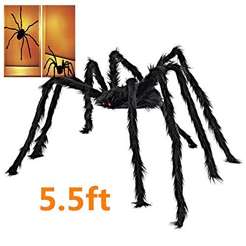 Best Halloween House Decorations (5.5 FT Halloween Decorations Giant Spider Large Spider 66 inch Outdoor Indoor Decor Yard Decorations)