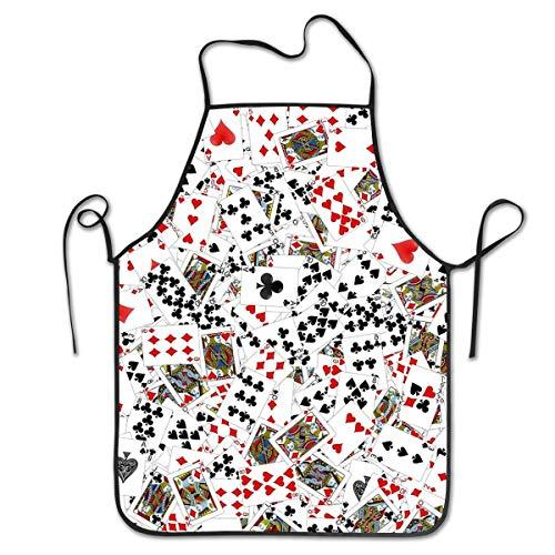 Playing Poker Cards Cooking Kitchen Bib Apron Aprons For Women Men Baking Gardening -