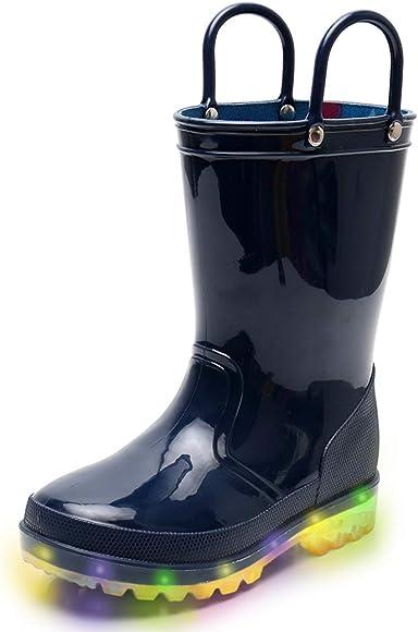 Blue Boys Light Up Rain Boots