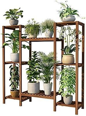 TIANQIZ-PLANT STAND Flores estantes Soporte De Madera for Flores La Multi-Capa Escalera for Flores Estantería Decorativa De Plantas Macetas for Exterior Plantas estantes: Amazon.es: Hogar