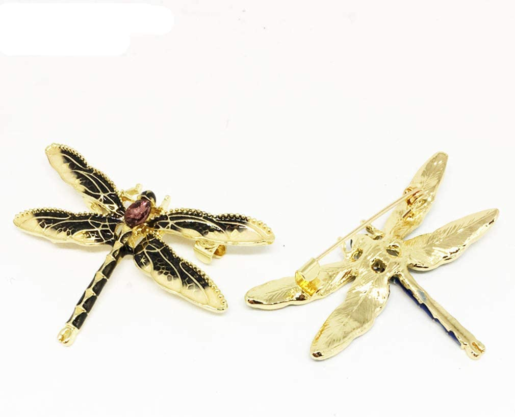 noir pratique et populaire Ogquaton Broche de style libellule Glaze Retro broche insectes animaux Broche Broche