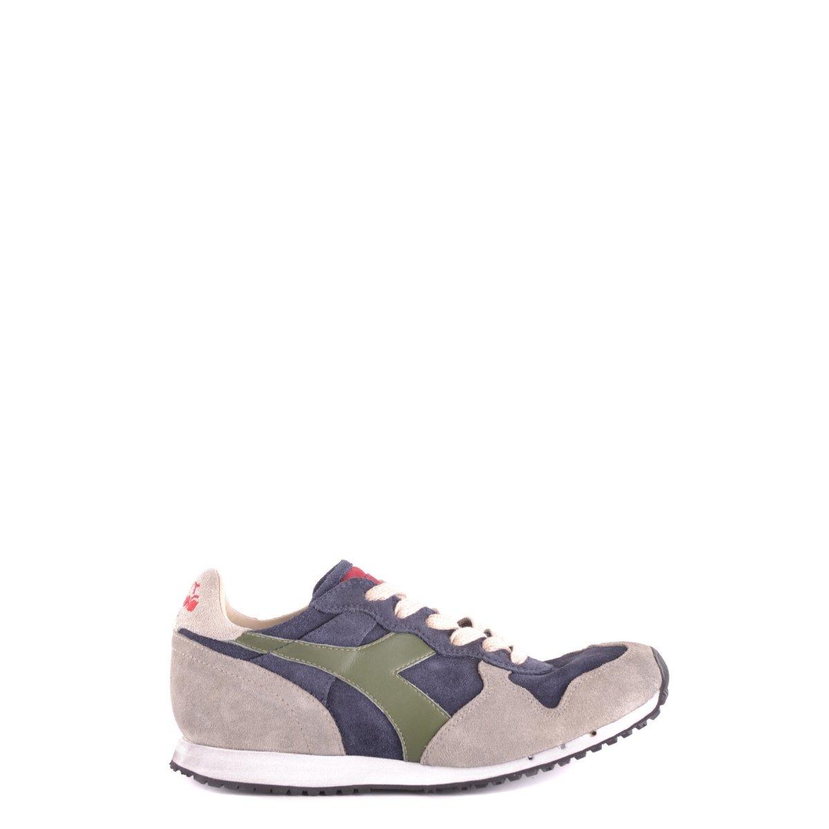 Diadora Heritage - Sneakers MI Basket Used para Hombre y Mujer 6.5|Marrón Y Azul