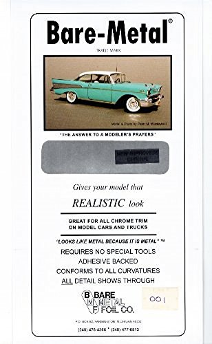 Chrome Bare-Metal Foil Model Car Truck Kit Adhesive by Bare Metal Foil 1