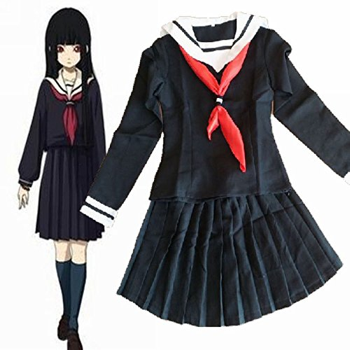 Hell Girl Cosplay Costume (Fantasycart Hell Girl Enma Ai Girl School Uniforms Cosplay Set L)