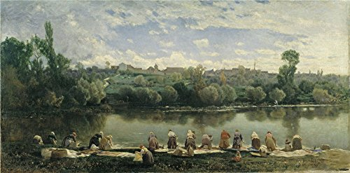 Oil Painting 'Rico Y Ortega Martin Washerwomen At The Varenne River', 16 x 32 inch / 41 x 82 cm , on High Definition HD canvas prints is for Gifts - Seattle Sunglasses Skyline