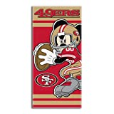 Northwest NFL San Francisco 49ers Disney Beach Towel, 30-inch by 60-inch
