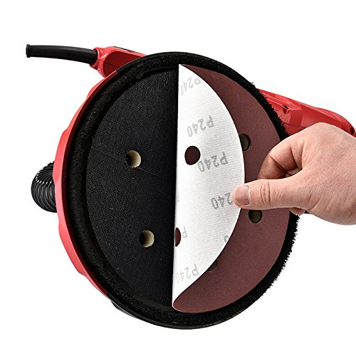 SUNCOO Commerical Electric Drywall Sander Variable Disc Sanding Pole Toosl Adjustable Speed Sanding with LED Light 750W Red by SUNCOO (Image #4)
