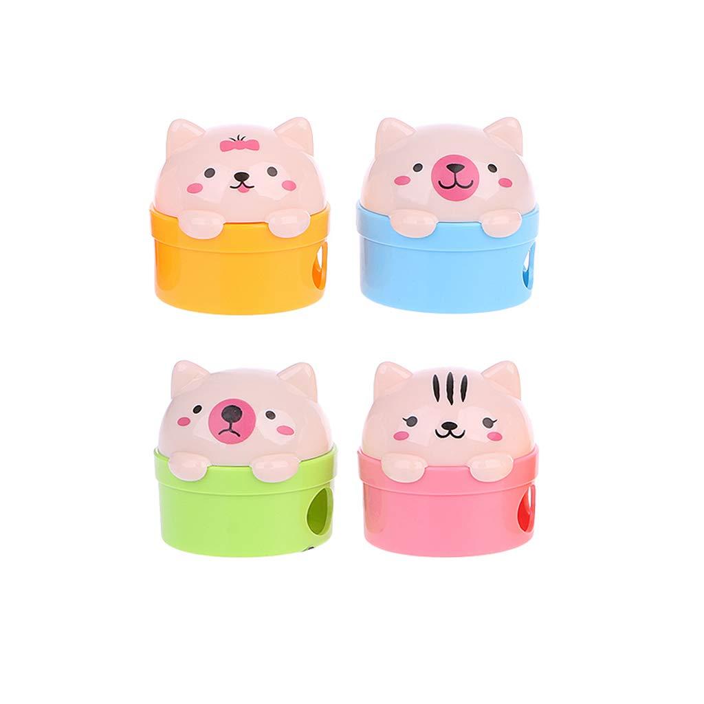 Su Qiao Creative Cat And Bear Plastic Pencil Sharpener Kids School Supplies Stationery