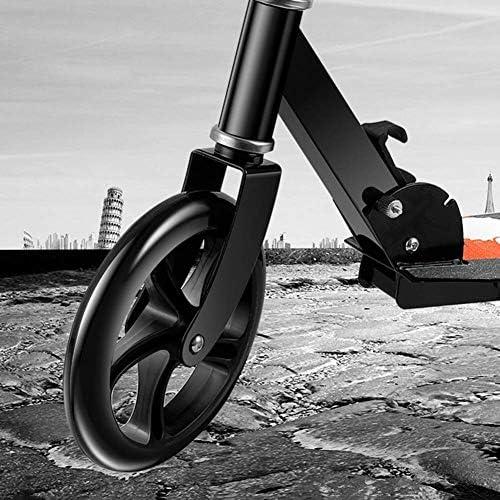 HSBAIS 大人のスクーター、折り畳み可能 調整可能 スクーター ブレーキ付き(非電気)大人のスクーター 大人向け,white_86x21x100cm
