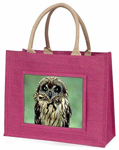 Advanta Süße Tawny Eule Große Einkaufstasche/Weihnachtsgeschenk, Jute, pink, 42x 34,5x 2cm