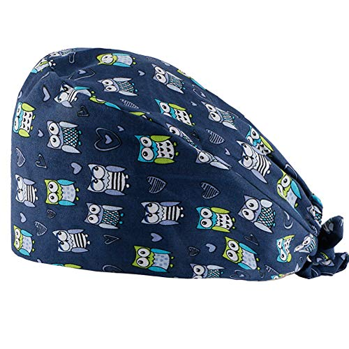 Surgical Scrub Cap Medical Doctor Bouffant Hat with Sweatband for Womens Mens