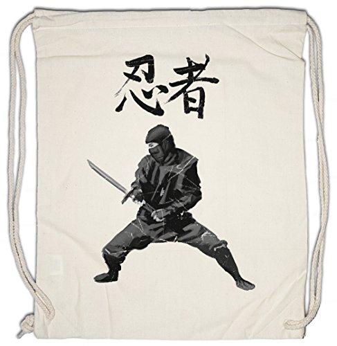 NINJA I Drawstring Bag Gym Sack Samurai Warrior Way of Sepuku Banzai Japan Japanese