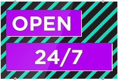 Modern Block Premium Acrylic Sign CGSignLab 36x24 Open 24//7