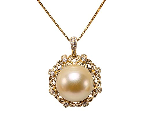 Amazon jyx 9k gold 135mm golden south sea pearl pendant jyx 9k gold 135mm golden south sea pearl pendant necklace aloadofball Image collections