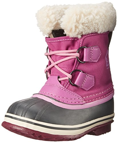 Sorel Yoot Pac Nylon V B Cold Weather Boot (Toddler/Little Kid/Big Kid), Very Berry, 11 M US Little Kid