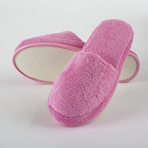 Turkishtowels Luxury Spa Pink Slippers in 100 Terry Large White Cotton rFrHq