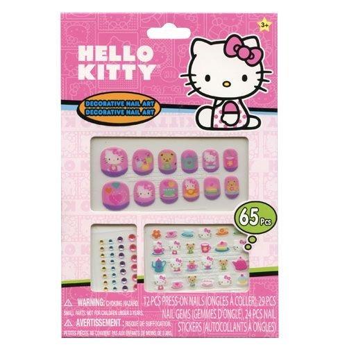 SANRIO Hello Kitty 65 Piece Decorative Nail Art Kit