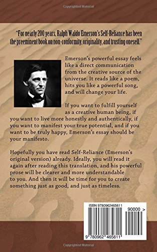 self reliance translated ralph waldo emerson s self reliance self reliance translated ralph waldo emerson s self reliance translated into modern english adam khan 9780962465611 com books
