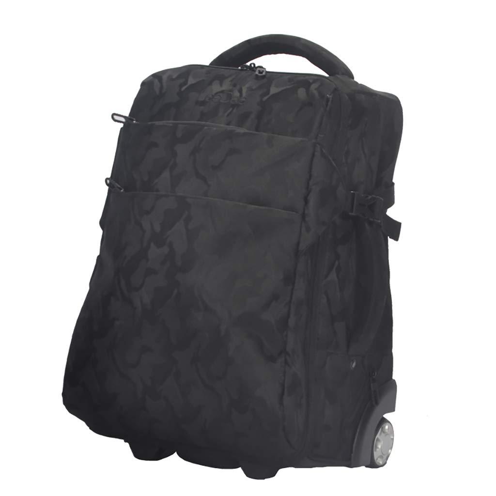 学校のラップトップバッグを旅する少年のためのトロリーバックパック大容量ストレージウィールドローリングバックパック防水旅の荷物   B07NMQ2DM7
