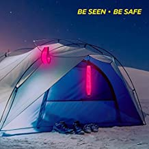 Led Safety Light, Camping Gear Safety Lights, Reflective Bag Tags Clip-On PVC Light Up Reflective Bands for Backpack, Tents, Bicycles,Cycling Running Jogging by Higo