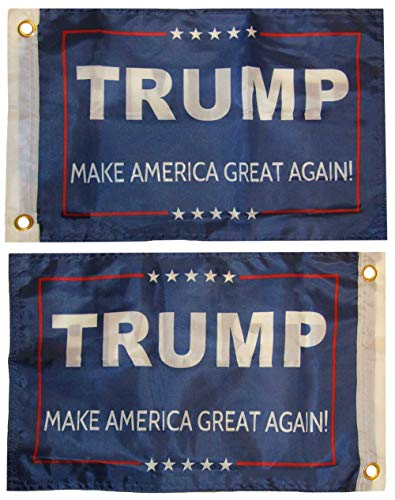 12x18 Trump Make America Great Again! Blue Double Sided 2 Ply 12